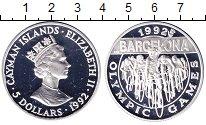 Изображение Монеты Каймановы острова 5 долларов 1992 Серебро Proof-