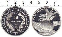 Изображение Монеты Турция 15 лир 2016 Серебро Proof