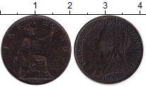 Изображение Монеты Великобритания 1 фартинг 1900 Медь XF