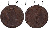 Изображение Монеты Гонконг 1 цент 1902 Медь VF Эдвард VII