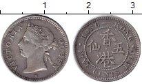 Изображение Монеты Гонконг 5 центов 1891 Серебро XF Виктория