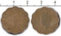 Изображение Монеты Британская Индия 1 анна 1943 Медь XF