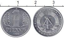 Изображение Монеты ГДР 1 пфенниг 1960 Алюминий XF А