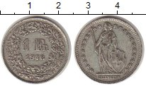 Изображение Монеты Швейцария 1 франк 1946 Серебро XF-