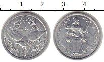 Изображение Монеты Новая Каледония 1 франк 1981 Алюминий UNC