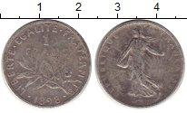 Изображение Монеты Франция 1 франк 1898 Серебро VF