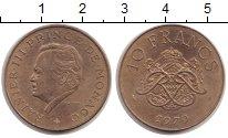 Изображение Монеты Монако 10 франков 1979 Латунь XF+