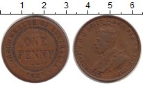 Изображение Монеты Австралия 1 пенни 1921 Бронза VF