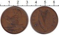 Изображение Монеты Ирландия 1 пенни 1942 Бронза VF