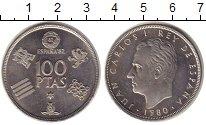 Изображение Монеты Испания 100 песет 1980 Медно-никель UNC