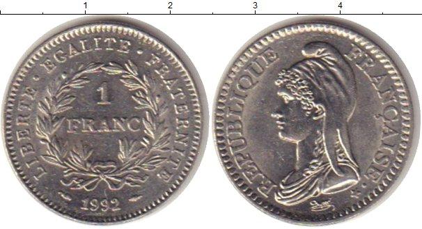Франция 1 франк 1992 25 коп 2006 года цена украина