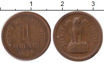 Изображение Монеты Индия 1 пайс 1959 Бронза XF