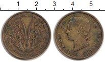 Изображение Монеты Французская Африка 25 франков 1956 Латунь VF-
