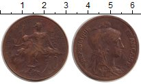 Изображение Монеты Франция 10 сентим 1917 Бронза VF