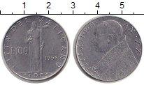 Изображение Монеты Ватикан 100 лир 1958 Сталь XF