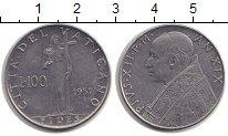 Изображение Монеты Ватикан 100 лир 1957 Сталь XF