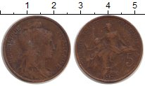 Изображение Монеты Франция 5 сантим 1917 Бронза VF