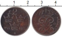 Изображение Монеты Швеция 2 эре 1944 Железо VF Густав V