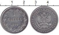 1881 – 1894 Александр III 1 марка 1890 Серебро