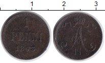 Изображение Монеты 1881 – 1894 Александр III 1 пенни 1893 Медь