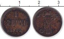 Изображение Монеты 1894 – 1917 Николай II 1 пенни 1902 Медь