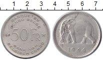 Конго 50 франков 1944 Серебро