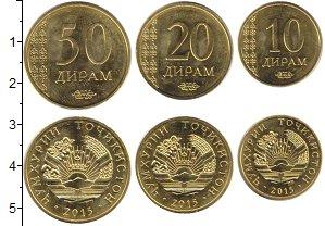 Изображение Наборы монет Таджикистан Таджикистан 2015 2015 Медь XF В наборе 3 монеты но