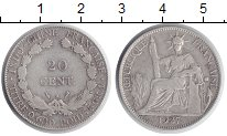Изображение Монеты Индокитай 20 центов 1927 Серебро VF