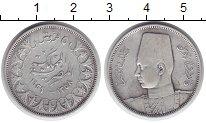 Изображение Монеты Египет 2 пиастра 1939 Серебро XF Фарук I