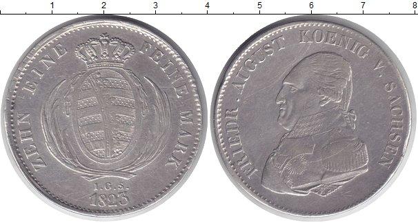 Картинка Монеты Саксония 1 талер Серебро 1825