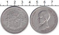 Изображение Монеты Испания 5 песет 1888 Серебро XF