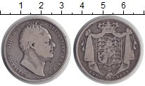 Изображение Монеты Великобритания 1/2 кроны 1834 Серебро VF Король Вильгельм III
