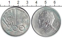 Изображение Монеты Югославия 200 динар 1977 Серебро XF 85 - летие Иосипа Бр
