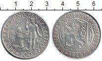 Изображение Монеты Чехословакия 100 крон 1948 Серебро XF