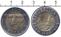 Изображение Монеты Сан-Марино 500 лир 1996 Биметалл UNC- Гегель.