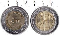 Изображение Монеты Швейцария 5 франков 2002 Биметалл UNC-