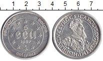 Изображение Монеты Бельгия 5 экю 1987 Серебро UNC