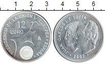 Изображение Монеты Испания 12 евро 2002 Серебро Proof