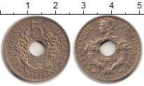 Изображение Монеты Индокитай 5 центов 1939 Медно-никель XF