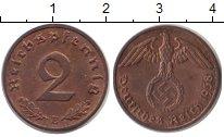 Изображение Монеты Третий Рейх 2 пфеннига 1938 Бронза XF Е