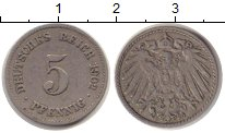Изображение Монеты Германия 5 пфеннигов 1902 Медно-никель VF