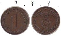 Изображение Монеты Третий Рейх 1 пфенниг 1940 Бронза XF F