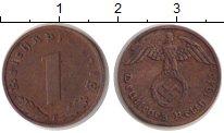 Изображение Монеты Третий Рейх 1 пфенниг 1940 Бронза VF F