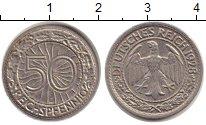 Изображение Монеты Веймарская республика 50 пфеннигов 1928 Медно-никель XF G