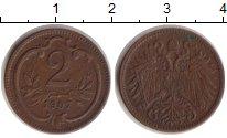 Изображение Монеты Австрия 2 геллера 1907 Бронза XF