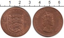 Изображение Монеты Остров Джерси 1/12 шиллинга 1966 Бронза XF Елизавета II. 900 -