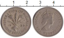 Изображение Монеты Нигерия 1 шиллинг 1959 Медно-никель VF Елизавета II. Англий
