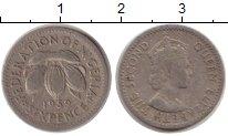 Изображение Монеты Нигерия 6 пенсов 1959 Медно-никель VF Елизавета II. Англий