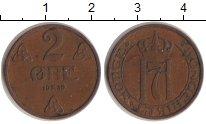 Изображение Монеты Норвегия 2 эре 1939 Бронза XF Хаакон VII.