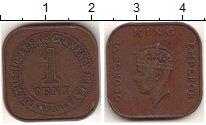 Изображение Мелочь Малайя 1 цент 1939 Бронза XF
